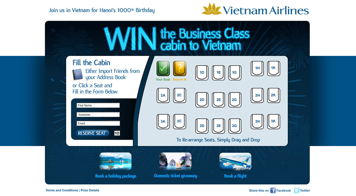 Vietnam Airlines Seating Arrangement